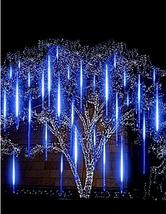 Гирлянда Тающие сосульки LED 50 см синие 8 шт | Новогодние гирлянды, фото 3