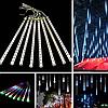 Гирлянда Тающие сосульки LED 50 см синие 8 шт | Новогодние гирлянды, фото 2