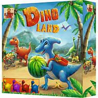 Детская настольная игра с динозаврами «Dino Land» БомбатГейм