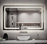 Зеркало DUSEL LED DE-M3001 80смх65см сенсорное включение+подогрев+часы/темп, фото 4