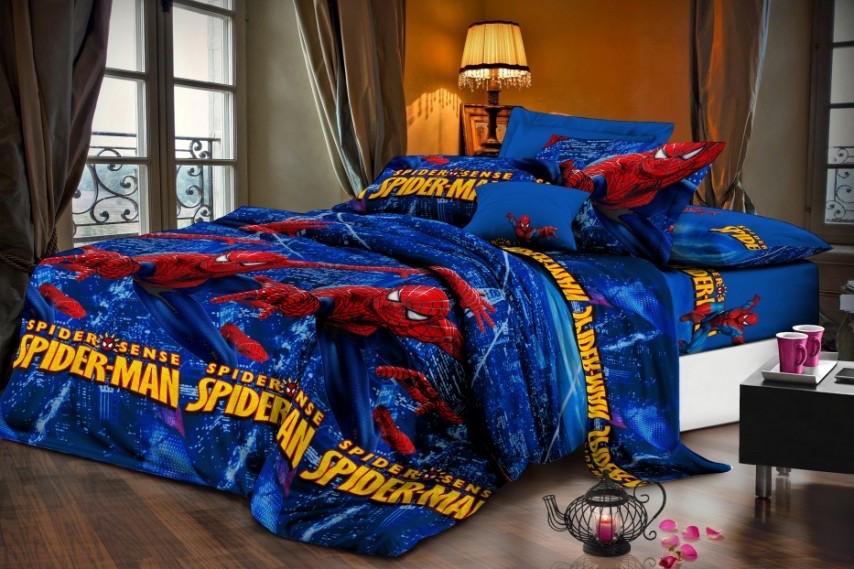 """Комплект постельного белья из ранфорса ТМ """"Ловец снов"""", Спайдермен"""