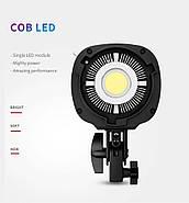 60W LED Светодиодный прожектор моноблок TOLIFO EF-60W - студийный источник постоянного дневного света, Bowens, фото 3