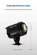 60W LED Светодиодный прожектор моноблок TOLIFO EF-60W - студийный источник постоянного дневного света, Bowens, фото 6