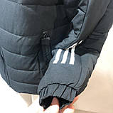 46,54,56 р. Чоловіча зимова куртка тепла з каптуром чорна, фото 4