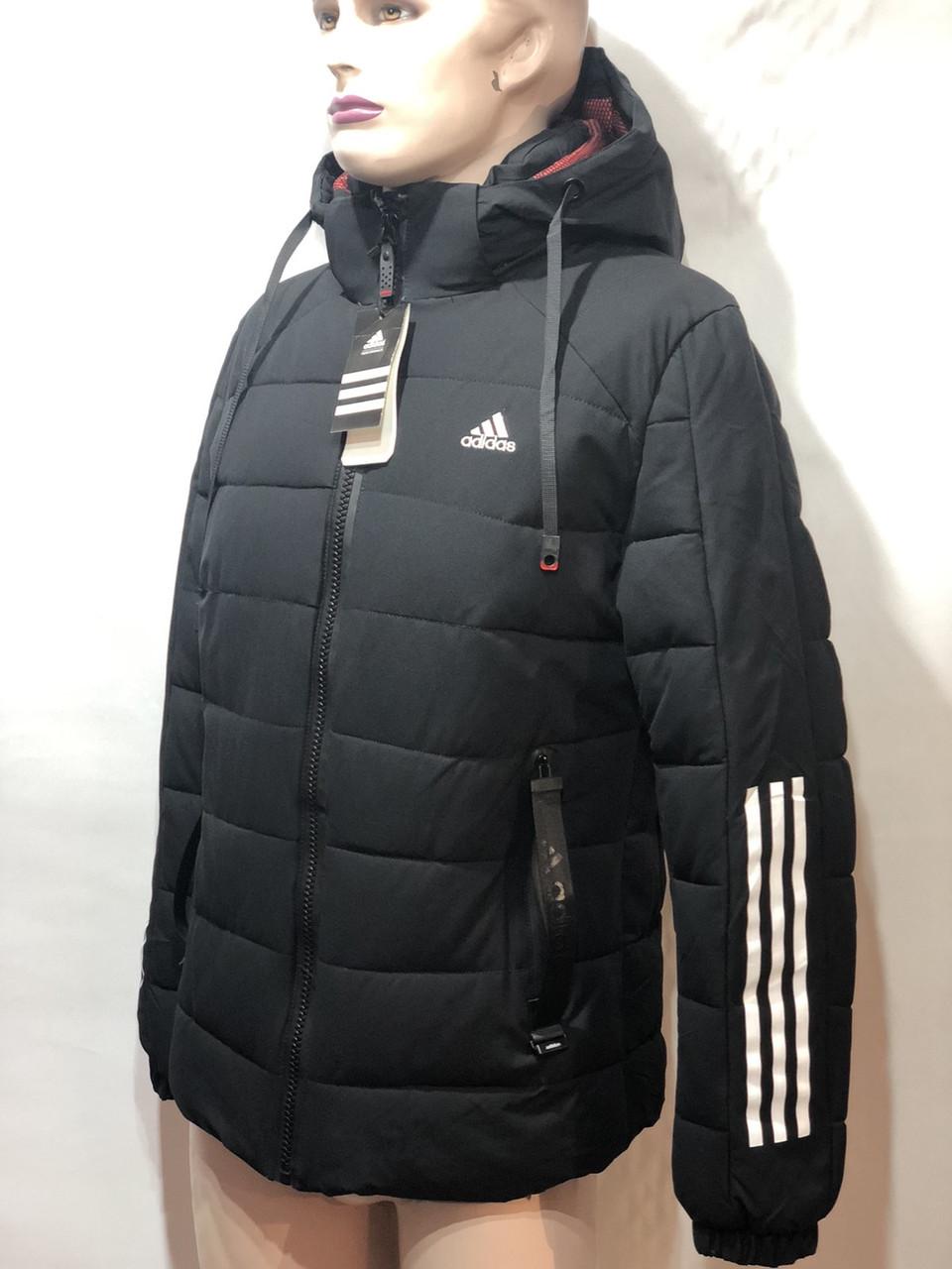 46,54,56 р. Мужская зимняя куртка теплая с капюшоном черная