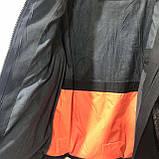 46,54,56 р. Чоловіча зимова куртка тепла з каптуром чорна, фото 2