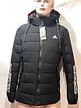 46,54,56 р. Чоловіча зимова куртка тепла з каптуром чорна, фото 5