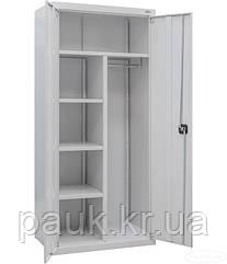 Шафа канцелярська гардеробна ШМР-20 ог, шафа для документів і одягу, універсальна металева шафа