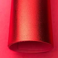 Фоамиран металлик 2 мм Красный лист 60x70см