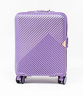 Чемодан пластиковый Wings WN01 маленький - ручная кладь (S, 33 л) Фиолетовый (Silver purple)