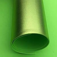Фоамиран металлик 2 мм Лайм лист 60x70см