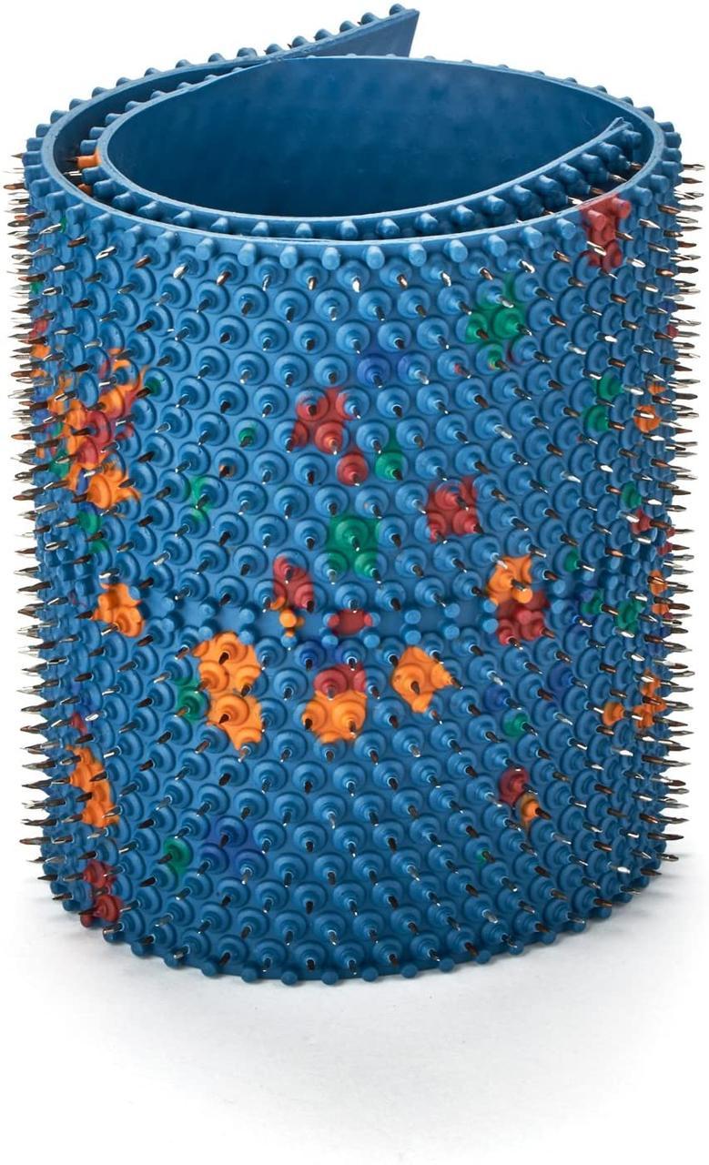 Аппликатор Ляпко 6,2 Ag Квадро размер 118 х 471 мм игольчатый коврик для позвоночника, спины, ног Синий