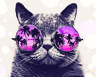 """Картина по номерам """"Котик на Маями"""" 40 x 50 cм"""