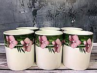 """Набор чашек """"Пурпурная орхидея"""": 6 чашек 350 мл, фото 1"""