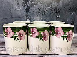 Набор чашек Керамклуб Пурпурная орхидея 6 чашек 350 мл