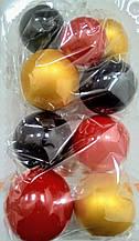 """Набір """"Кульки святкові (9шт) червоно/золоті/чорні"""""""