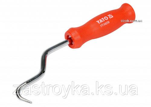 Крючок для вязания проволоки YATO, L= 210 мм, пластиковая ручка