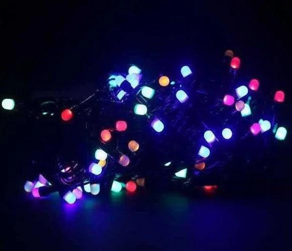 Гирлянда точка матовый 200 LED 18м цвет ламп микс