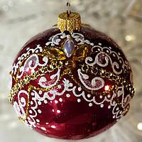"Новогодний ёлочный шар из стекла ""Корона"" 80 мм"