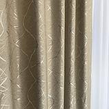 Солнцезащитные шторы из льна блэкаут | Готовые шторы из льна | Якісні штори з льону | Бежевые шторы |, фото 4