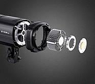 150W LED Светодиодный прожектор моноблок TOLIFO EF-150W - студийный источник постоянного света, Bowens, фото 4