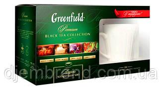 Набор чая с чашкой Greenfield: Kenyan Sunrise, Classic Breakfast, Spring Melody, Currant & Mint 100 пакетиков