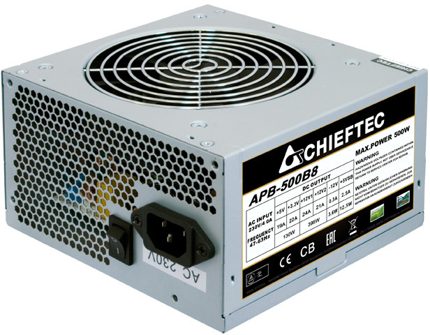 Блок питания Chieftec 500W [APB-500B8]