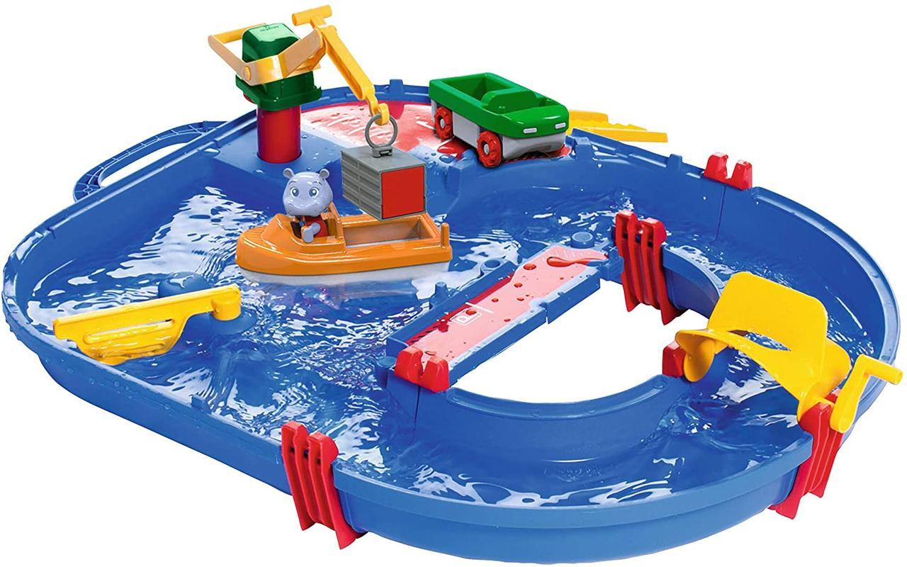 Игровой набор Аква Плей. Строительство с краном, машинкой, лодкой и фигуркой AQUAPLAY 8700001501