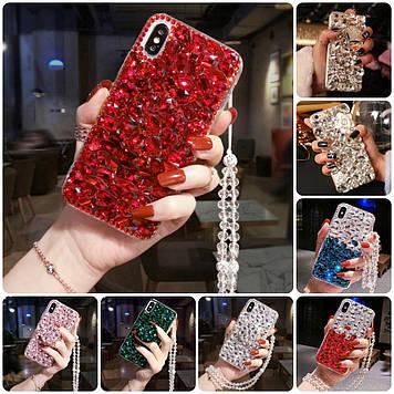 """ASUS ROG Phone 3 ZS661KS оригинальный противоударный чехол накладка бампер со стразами камнями """"LUXURY SHINE"""""""