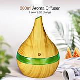 Ультразвуковой увлажнитель воздуха Humidifier Light wood c подсветкой и аромадиффузором, фото 2
