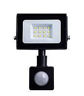 Світлодіодний прожектор з датчиком руху 10W ONE LED 6400K