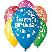 """GEMAR с рисунком  GS110 12""""  """"Happy Birthday"""" (100 шт)"""
