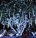 """Светодиодная гирлянда внешняя """"Snowfall"""" белый 8 метеоров 220V IP44 Код.59710, фото 4"""