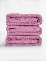 Махрове простирадло 100% бавовна рожевого кольору 155х220, фото 3