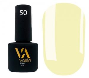 Гель-лак Valeri №050 (светло-желтый, эмаль), 6 мл