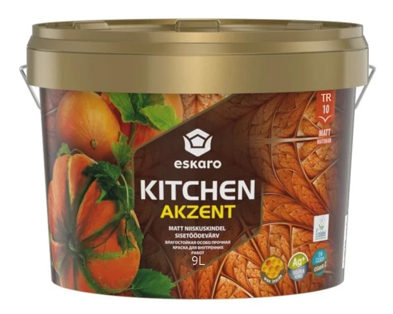 Краска акрилатная ESKARO KITCHEN для кухни транспарентная-база TR 9л