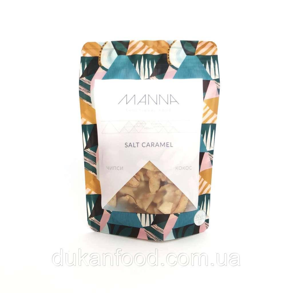 Чипсы MANNA Salt Caramel кокосовые 50 г  СРОК ГОДНОСТИ ДО 25.11.2020