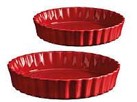 Набор форм для пирога Emile Henry 24 и 28 см красных 349724