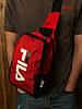 Сумка через плечо фила Fila спортивная мужская слинг красная реплика