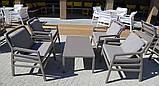 Крісло Aria 70,5x71x84 см bianco grigio Sunbrella®, фото 4