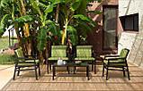 Крісло Aria 70,5x71x84 см bianco grigio Sunbrella®, фото 6