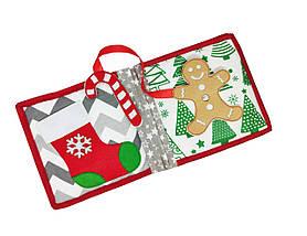 Новогодние мягкие книжки для детей, Мягкие книжки Handmade, 10 страниц/ Christmas tree, фото 3