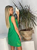 """Короткое платье без рукавов """"Барби"""" с перфорацией, фото 3"""