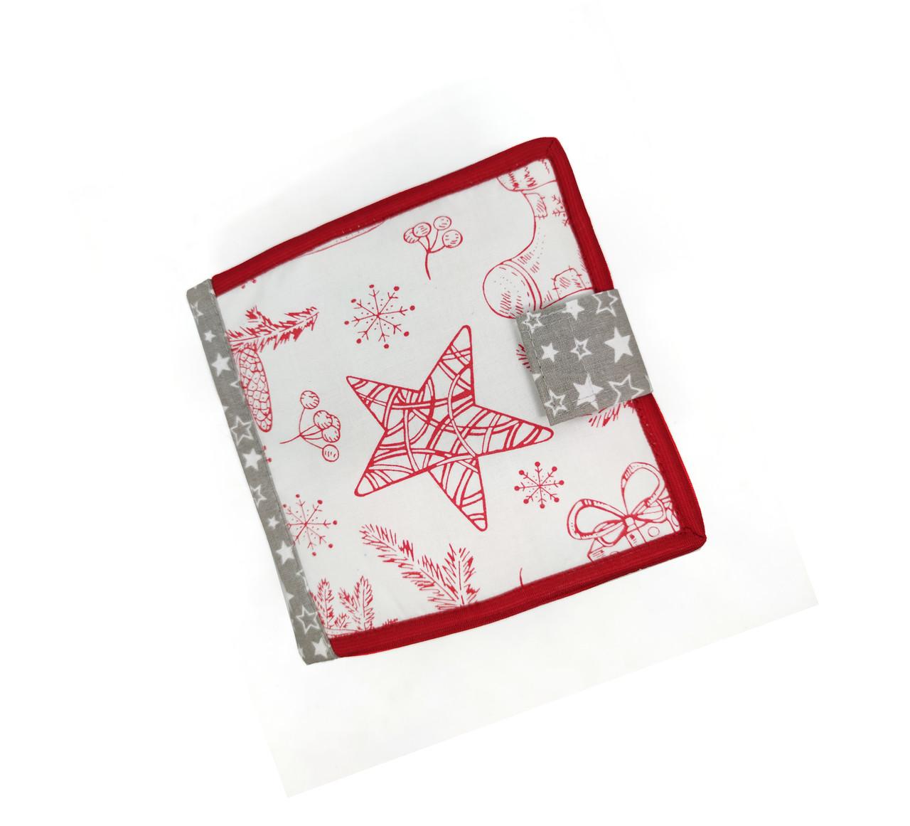 Новогодняя книжка из фетра для самых маленьких, 10 страниц/ Christmas book