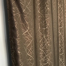 Солнцезащитные шторы из льна блэкаут | Готовые шторы из льна | 100% защита от солнца | Коричневые шторы |
