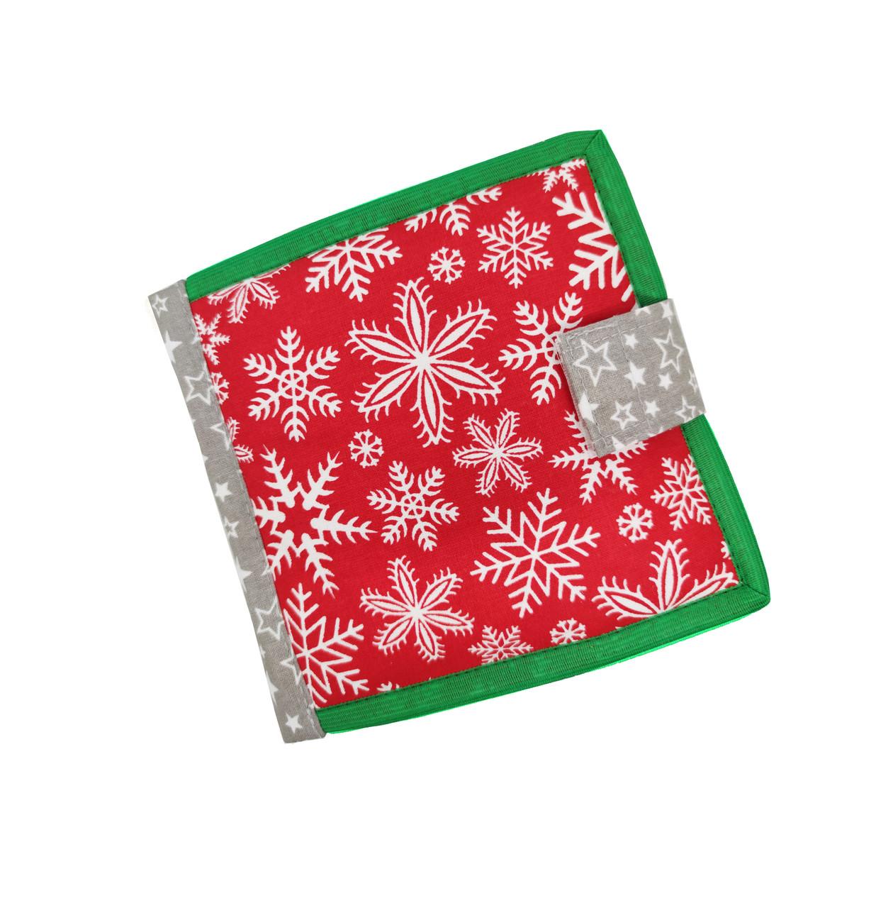 Новогодняя книжка из фетра для самых маленьких, 10 страниц/ Christmas soft book