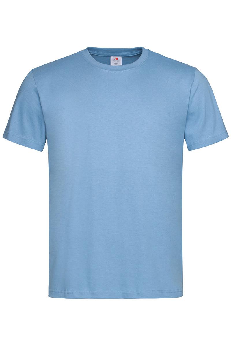 Футболка Stedman Classic Men мужская хлопковая 155 г/м2 светло-голубая