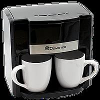 Кофеварка Domotec MS 0708 + 2 чашки 220V   кофемашина Домотек 500Вт 300мл
