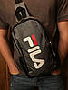 Сумка через плечо фила Fila спортивная мужская слинг серая реплика