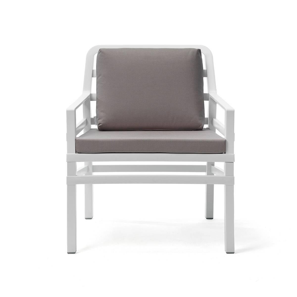 Крісло Aria 70,5x71x84 см bianco grigio Sunbrella®